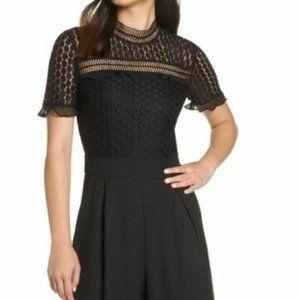 Chelsea28 Jumpsuit Lace Cropped Short Sleeve